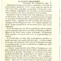 Thomas E. Bramlette, Proclamation by the Governor