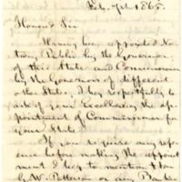 John Francis to Thomas E. Bramlette