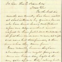 W. M. Allen to Thomas E. Bramlette