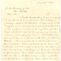 Mrs. Robert Buffum to Edwin M. Stanton