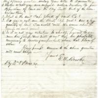 R. M. Bradley to Ephraim L. Van Winkle