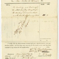 Samuel G. Suddarth, Receipt to Rutha R Manion