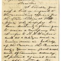 M. E. Poynter to Thomas E. Bramlette