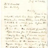 Brutus J. Clay to Thomas E. Bramlette